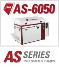 Accustream AS-6050 Waterjet Cutting Machine Intensifier Pump