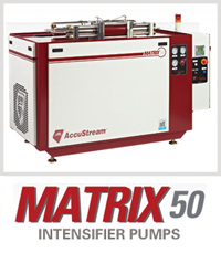 Martix 50 Accustream Waterjet Cutting Machine Intensifier Pump